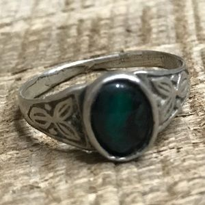 Jewelry - 925 Sterling Silver Aqua Accent Ring